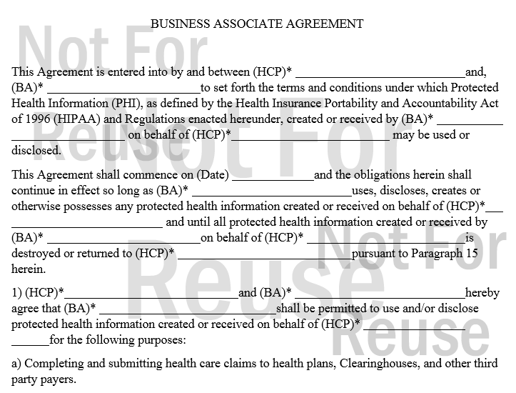 HIPAA Business Associate Agreement BCI Computers – Business Associate Agreement Samples